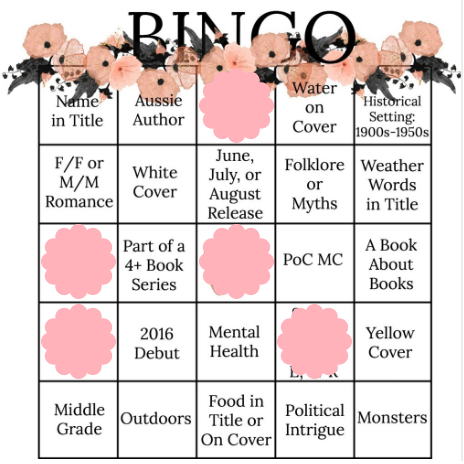 Book Bingo Progress June