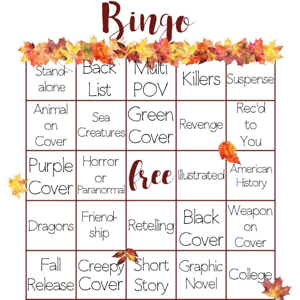 Autumn Book Bingo