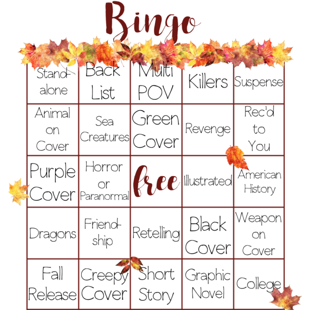 Autumn Book Bingo