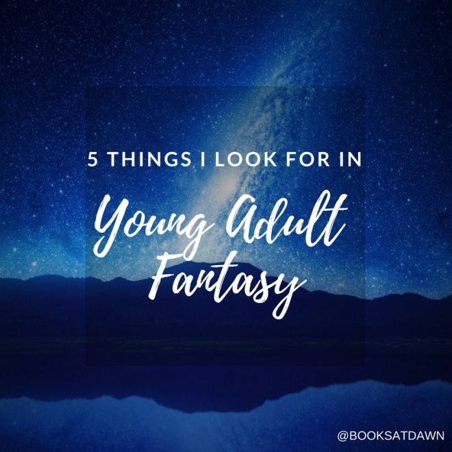 5 THINGS I LOOK FOR IN Young Adult Contemporary (1)