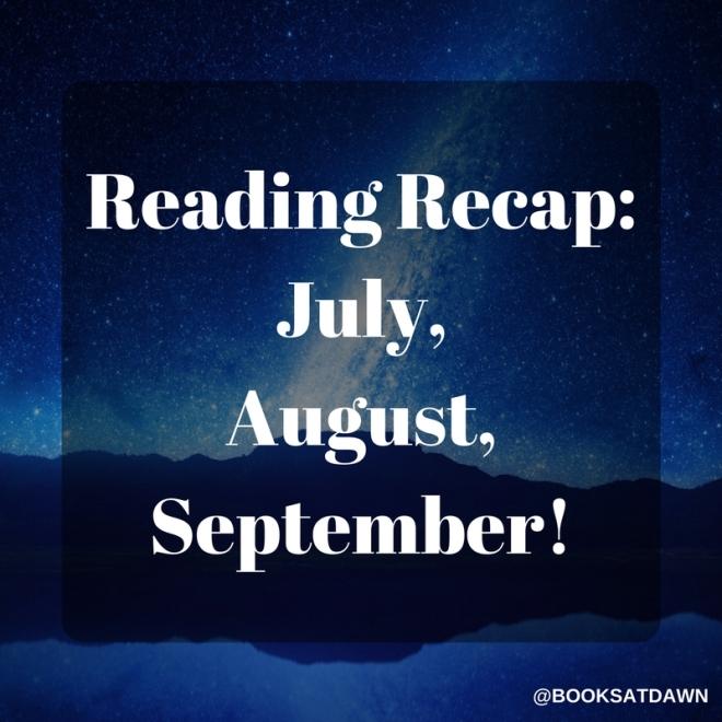 Reading Recap- July, August, September! (1)